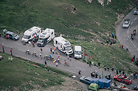 a small peloton of race favorites up the highest point in the 2017 TdF: The Galibier (HC/2642m/17.7km/6.9%)<br /> <br /> 104th Tour de France 2017<br /> Stage 17 - La Mure › Serre-Chevalier (183km)