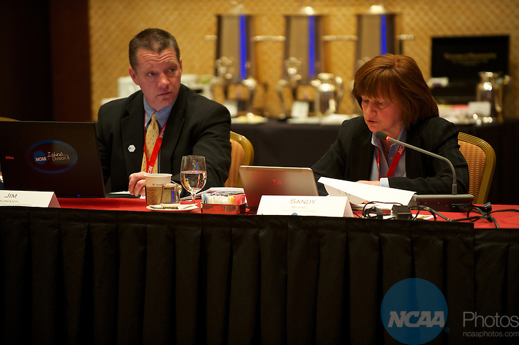 12 JAN 2011: The Division II Management Council meets at the annual NCAA Convention held in San Antonio,TX. (Joshua Duplechian/NCAA Photos)
