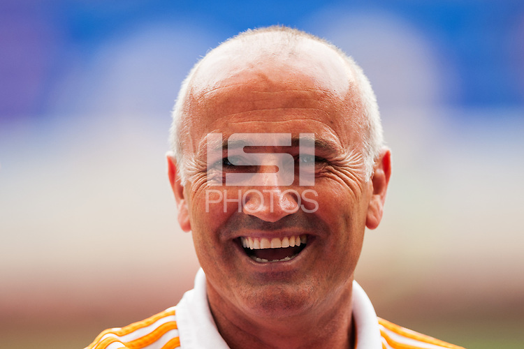 Houston Dynamo head coach Dominic Kinnear. The New York Red Bulls defeated the Houston Dynamo 2-0 during a Major League Soccer (MLS) match at Red Bull Arena in Harrison, NJ, on June 30, 2013.