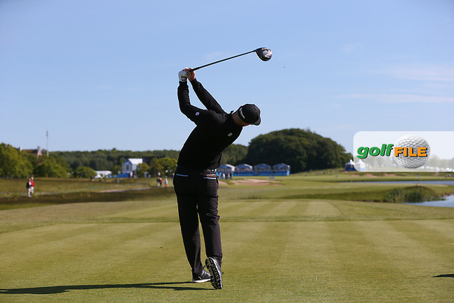 Jens Dantorp (SWE) thumps a drive down the 9th during Round Two of the 2015 Nordea Masters at the PGA Sweden National, Bara, Malmo, Sweden. 05/06/2015. Picture David Lloyd | www.golffile.ie