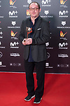 Pascual Geigne receives the Best Original Soundtrack Award during Feroz Awards 2018 at Magarinos Complex in Madrid, Spain. January 22, 2018. (ALTERPHOTOS/Borja B.Hojas)