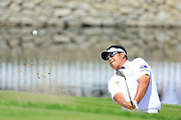 Kiradech Aphibarnrat of Team Thailand during day 2 of the GolfSixes played at The Centurion Club, St Albans, England. <br /> 06/05/2018.<br /> Picture: Golffile | Phil Inglis<br /> <br /> <br /> All photo usage must carry mandatory copyright credit (&copy; Golffile | Phil Inglis)