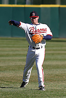 April 8, 2005:  Joe Inglett of the Buffalo Bisons during a game at Dunn Tire Park in Buffalo, NY.  Buffalo is the International League Triple-A affiliate of the Cleveland Indians.  Photo by:  Mike Janes/Four Seam Images