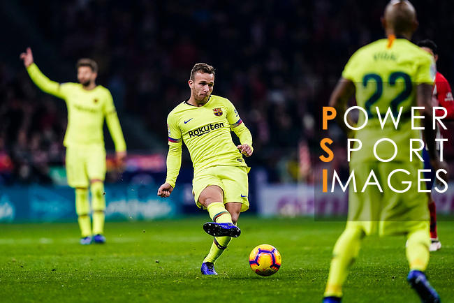 Arthur Melo of FC Barcelona in action during the La Liga 2018-19 match between Atletico Madrid and FC Barcelona at Wanda Metropolitano on November 24 2018 in Madrid, Spain. Photo by Diego Souto / Power Sport Images