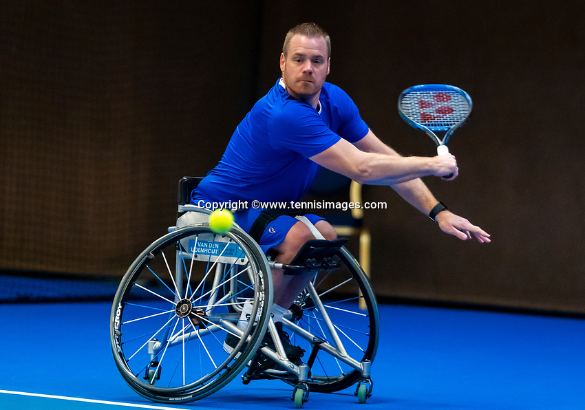Alphen aan den Rijn, Netherlands, December 15, 2018, Tennispark Nieuwe Sloot, Ned. Loterij NK Tennis, Wheelchair men's semifinal:  Maikel Scheffers (NED)<br /> Photo: Tennisimages/Henk Koster