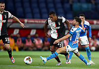 Juventus' Alex Sandro is challenged by Napoli's Dries Mertens during the Italian Cup football final match between Napoli and Juventus at Rome's Olympic stadium, June 17, 2020. Napoli won 4-2 at the end of a penalty shootout following a scoreless draw.<br /> UPDATE IMAGES PRESS/Isabella Bonotto