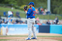 South Bend Cubs relief pitcher Jeffrey Passantino (39) looks to his catcher for the sign against the West Michigan Whitecaps at Fifth Third Ballpark on June 10, 2018 in Comstock Park, Michigan. The Cubs defeated the Whitecaps 5-4.  (Brian Westerholt/Four Seam Images)