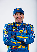 Feb 6, 2020; Pomona, CA, USA; NHRA funny car driver Ron Capps poses for a portrait during NHRA Media Day at the Pomona Fairplex. Mandatory Credit: Mark J. Rebilas-USA TODAY Sports