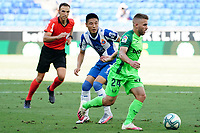 5th July 2020; RCDE Stadium, Barcelona, Catalonia, Spain; La Liga Football, Real Club Deportiu Espanyol de Barcelona versus Leganes; Kevin Rodrigues breaks past Wu Lei