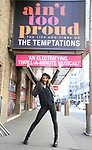 "Taylor Symone Jackson during her Broadway Debut in ""Ain't Too Proud""  Photo Shoot at the Imperial Theatre on 3/26/2019 in New York City."