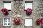 Typical architecture, town of La Vraie Croix, departament of Morbihan, region of Brittany, France