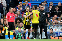 Watford's Tom Cleverley replaces Nathaniel Chalobah in the second half during Chelsea vs Watford, Premier League Football at Stamford Bridge on 5th May 2019