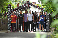 Captains are welcomed onto Turangawaewae Marae.<br /> 2019 Hamilton Sevens captains' photo at Turangawaewae Marae in Ngaruawahia, New Zealand on Wednesday, 23 January 2019. Photo: Jeremy Ward / lintottphoto.co.nz