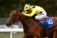Winner of The Shadwell Dick Poole Fillies' Stakes     Yourtimeisnow ridden by Andrea Atzeni and trained by Roger Varian   during the Bathwick Tyres & EBF Race Day at Salisbury Racecourse on 6th September 2018