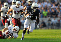 20 September 2014:  Penn State WR DaeSean Hamilton (5).The Penn State Nittany Lions vs. the University of Massachusetts Minutemen at Beaver Stadium in State College, PA.