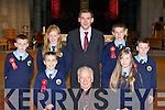 Loughquittane NS students pupils who made their Confirmation in St Mary's Cathedral Killarney on Friday front row l-r: Daniel Devlan, Bishop Bill Murphy, Ciara O'Shea, Fina?n Walsh, Linda Bruggener, John McKenna, Eoin O'Meara and Eric O'Donoghue
