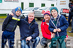 Gene and Owen O'Riordan (Ballydesmond) & Ger and Darragh Dunlea (Ballydesmond) enjoying the action at the  Jimmy Devane Moto Cross at Ballybeggan Racecourse on Saturday last.