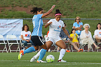 Piscataway, NJ - Saturday June 11, 2016: Raquel Rodriguez, Desiree Scott during a regular season National Women's Soccer League (NWSL) match between Sky Blue FC and FC Kansas City at Yurcak Field.