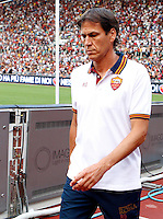 "Calcio: allenamento a porte aperte ""Open Day"" per la presentazione della Roma, a Roma, stadio Olimpico, 21 agosto 2013.<br /> AS Roma coach Rudi Garcia, of France, attends the club's Open Day training session at Rome's Olympic stadium, 21 August 2013.<br /> UPDATE IMAGES PRESS/Riccardo De Luca"