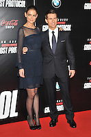 Katie Holmes and Tom Cruise at the U.S. Premiere Of 'Mission Impossible - Ghost Protocol' At The Ziegfeld Theatre in New York City. December 19, 2011. ©mpi03/MediaPunch Inc.