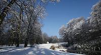 Snow at Zijpendaal Park in Arnhem,Nehterlands