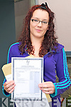 Listowel Community College. Tracey Lyons with her leaving Cert results on Wednesday Morning.