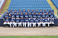 Asheville Tourists team photo during media day at McCormick Field on April 2, 20198 in Asheville, North Carolina. (Tony Farlow/Four Seam Images)