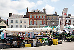 Stalls in market place Devizes, Wiltshire, England
