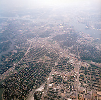 1998 September 05..Aerial..High altitude of census tracts around Elizabeth River in Portsmouth & Norfolk..Gene Woolridge.NEG# 11678 - 53.NRHA#..