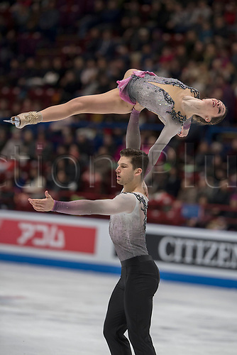 21st March 2018, Milan, Italy; ISU World Figure Skating Championships Milano 2018;  NICOLE DALLA MONICA and MATTEO GUARISE