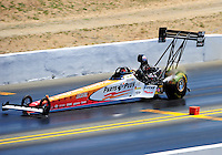 Jul. 30, 2011; Sonoma, CA, USA; NHRA top fuel dragster driver Clay Millican during qualifying for the Fram Autolite Nationals at Infineon Raceway. Mandatory Credit: Mark J. Rebilas-
