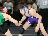 Ryan Mccormick and Nick Napierski wrestle at the 130 weight class during the NY State Wrestling Championships at Blue Cross Arena on March 8, 2008 in Rochester, New York.  (Copyright Mike Janes Photography)