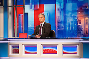 "Jon Stewart during a taping of ""The Daily Show with Jon Stewart"" on Thursday September 6th 2012 in Charlotte, NC."