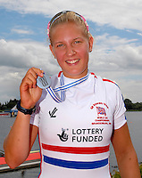 Brandenburg, GERMANY, GBR, BW1X Kristina STILLER. Silver medalist.  2008 FISA U23 World Rowing Championships, Sunday, 20/07/2008, [Mandatory credit: Peter Spurrier Intersport Images].... Rowing Course: Brandenburg, Havel Rowing Course, Brandenburg, GERMANY