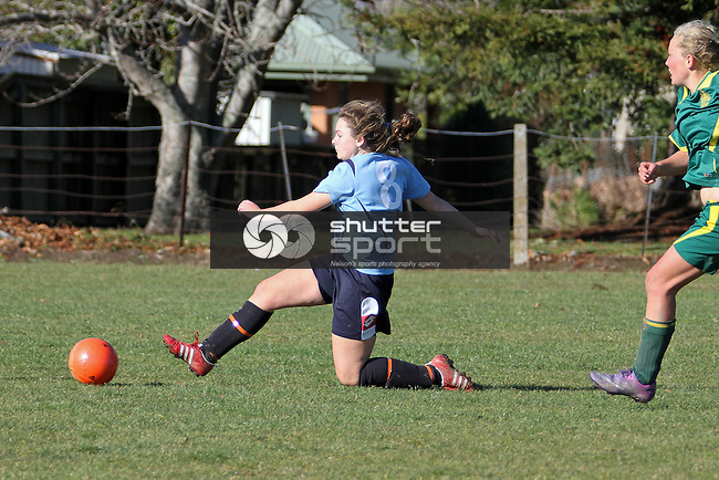 Harriet Williamson with the equaliser. NCG v Waimea College, Women's 1st Div Top of the South League, Waimea College, Richmond, New Zealand<br /> Photo: Marc Palmano/shuttersport.co.nz