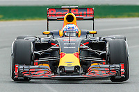 March 18, 2016: Daniel Ricciardo (AUS) #3 from the Red Bull Racing team rounds turn 2 during practise session one at the 2016 Australian Formula One Grand Prix at Albert Park, Melbourne, Australia. Photo Sydney Low