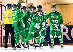 Stockholm 2015-11-18 Bandy Elitserien Hammarby IF - Sandvikens AIK :  <br /> Hammarbys David Pizzoni Elfving firar sitt 6-6 m&aring;l med lagkamrater under matchen mellan Hammarby IF och Sandvikens AIK <br /> (Foto: Kenta J&ouml;nsson) Nyckelord:  Elitserien Bandy Zinkensdamms IP Zinkensdamm Zinken Hammarby Bajen HIF Sandviken SAIK jubel gl&auml;dje lycka glad happy