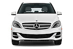 Car photography straight front view of a 2014 Mercedes Benz B-Class Electric Drive 5 Door MPV Front View