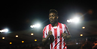 Lincoln City's Bernard Mensah<br /> <br /> Photographer Chris Vaughan/CameraSport<br /> <br /> The EFL Checkatrade Trophy Northern Group H - Lincoln City v Wolverhampton Wanderers U21 - Tuesday 6th November 2018 - Sincil Bank - Lincoln<br />  <br /> World Copyright © 2018 CameraSport. All rights reserved. 43 Linden Ave. Countesthorpe. Leicester. England. LE8 5PG - Tel: +44 (0) 116 277 4147 - admin@camerasport.com - www.camerasport.com