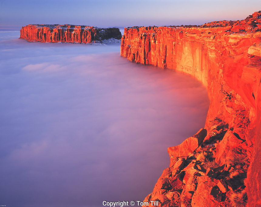 "Fog ""Sea"" in the Canyonlands at Sunrise, Grandview Point, Island in the Sky, Canyonlands National Park, Utah"