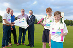 Ringcommon cricket club being presented with there new kit sponsored by Flogas pictured on right Eoin O'Flynn Marketing Manager Flogas Ireland, with left to right Declan Moore Johnny White John Hamilton and Juniors Zach and Ged Sweetman.<br /> Picture Fran Caffrey | Newsfile