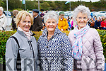 Margaret Gleasure, Diana Thompson and Maura Cronin pictured at Ballyheigue Pattern Day on Saturday last.