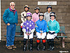 group of riders before The Fegentri Amateur Riders Club of America Race at Delaware Park on 10/3/15