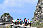 The peleton hug the coastline during Stage 8 of the 2018 Giro d'Italia, a flat stage running 209km from Praia a Mare to Montevergine di Mercogliano, Italy. 12th May 2018.<br /> Picture: LaPresse/Fabio Ferrari | Cyclefile<br /> <br /> <br /> All photos usage must carry mandatory copyright credit (&copy; Cyclefile | LaPresse/Fabio Ferrari)