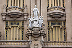 HAVANA, CUBA -- MARCH 24, 2015:   A detail of the Gran Teatro de La Habana in Havana, Cuba on March 24, 2015. Photograph by Michael Nagle