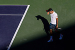 March 17, 2019: Roger Federer (SUI) in action where he was defeated by Dominic Thiem (AUT) 6-3, 3-6, 7-5 in the finals of the BNP Paribas Open at the Indian Wells Tennis Garden in Indian Wells, California. ©Mal Taam/TennisClix/CSM