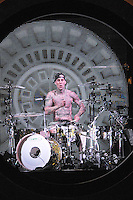 "Blink 182 drummer Travis Barker opens up for Lil Wayne during his  ""I Am Music II"" tour in Chicago at the United Center on April 1, 2011. (Photo by: mpi30/MediaPunch Inc)"