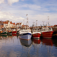 Scotland. Fife. Pittenweem fishing harbour/harbor.