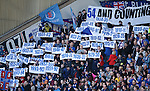 Rangers fans celebrate the retention of a world record 54 titles after the Lord Nimmo Smith enquiry