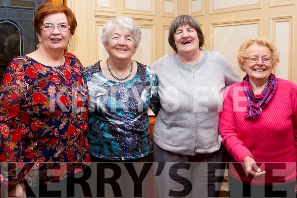 Enjoying the Sliabh Luachra Active Retirement Tea Dance afternoon in the River Island Hotel, Castleisland on Sunday last, L-r, Sheila Ahern (Currow), Norrie McGlynn (Currow), Bridie Reidy (Castleisland) and Annie Lane (Brosna).